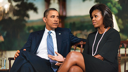 The Obamas in their first sit-down interview together since the Inauguration.
