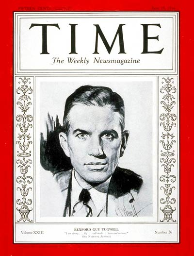 TIME Magazine Cover: Rexford G. Tugwell -- June 25, 1934