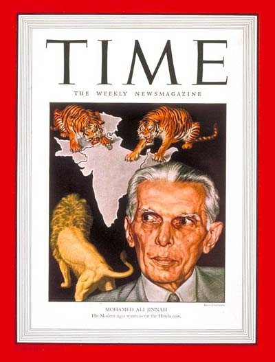 TIME Mag Cover with Jinnah, April 22 1946