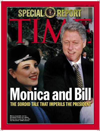 TIME Magazine Cover: Monica Lewinsky & Bill Clinton -- Feb. 2, 1998