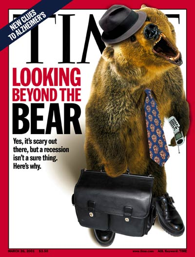 TIME Magazine Cover: Recession - Mar. 26, 2001: Business, Economy -- Click for Table of Contents