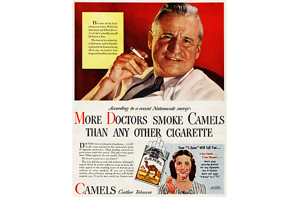 Image result for an old cigarette commercial with a doctor