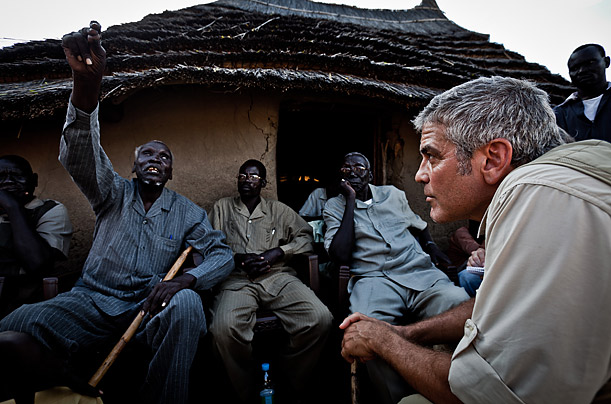 George Clooney in Sudan, Time Magazine photo