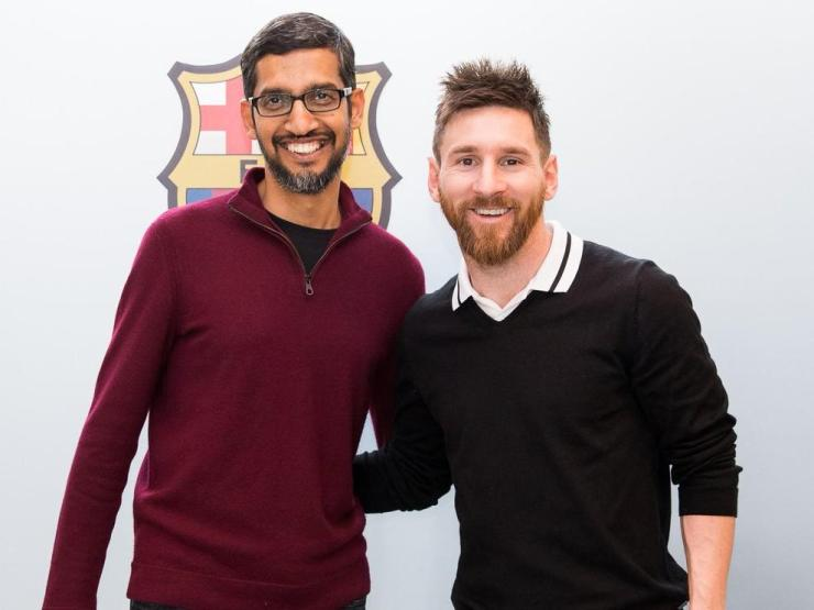 Sundar Pichai with Messi photos revealed! 10 surprising things you never know about the ceo of google REVEALED! 10 SURPRISING THINGS YOU NEVER KNOW ABOUT THE CEO OF GOOGLE C539vJOVMAAfWZp  Sundar  1562913558  rend 4 3