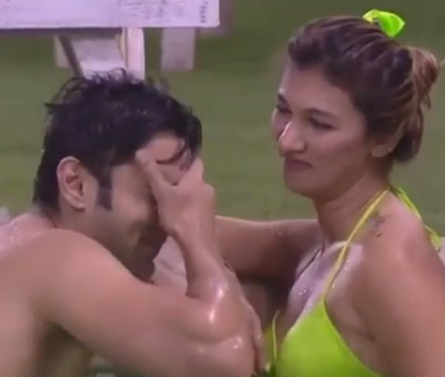 Watch All The Videos Of Jasleen And Rohits Naughty Pool Romance On Bigg Boss  Below