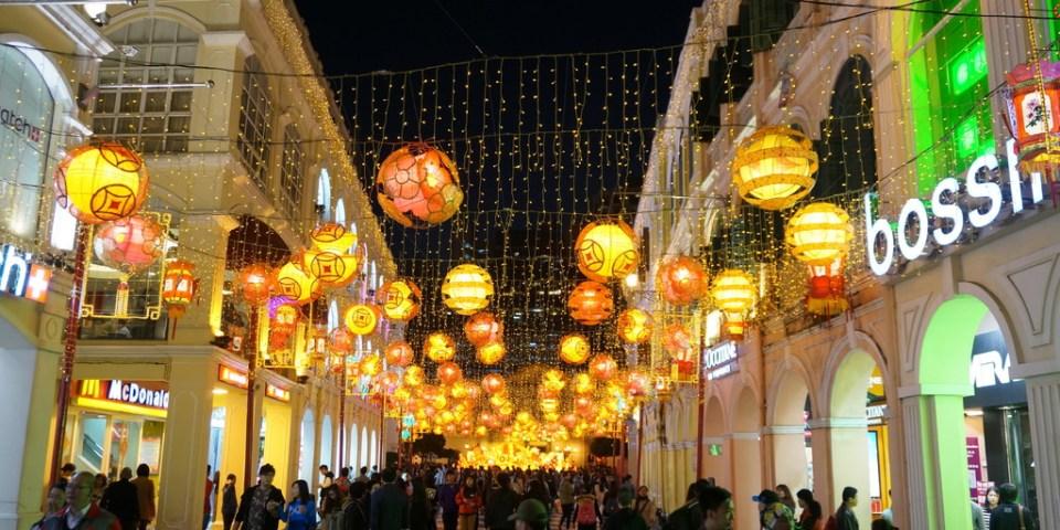 【澳門】日與夜的世界文化遺產美景-市政廳/噴水池/仁慈堂/玫瑰聖母堂--踢小米遊樂
