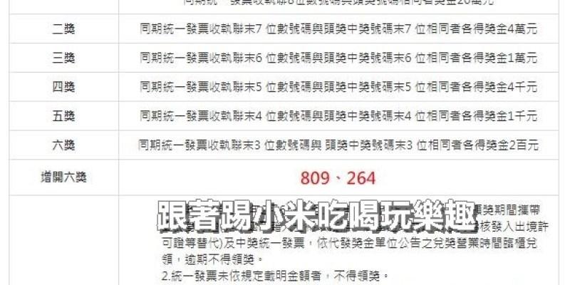 2019(108年)01-02月統一發票中獎號碼.祝大家中大獎啦!--踢小米生活