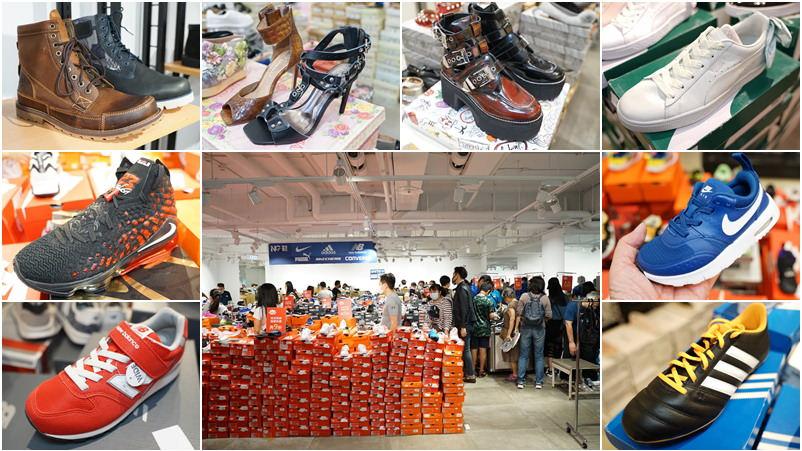 年年狂賣上萬雙,台中日曜天地OUTLET好評加開台北場!超過20大名牌NG鞋1折起!