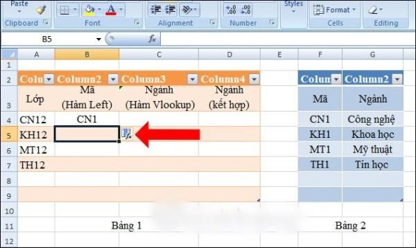 Cách sử dụng hàm vlookup trong excel và ví dụ cụ thể - Ảnh 6