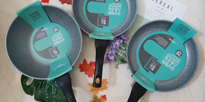 【現貨團】 韓國Kitchen Art塗石不沾鍋-錦上添花系列/ 快速導熱 輕盈不沾鍋具組
