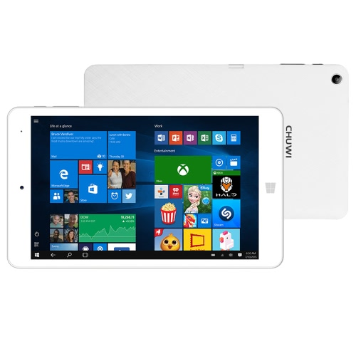 "CHUWI Hi8 Pro Tablet PC intel Cherry Trail-T3 Z8300 Quad Core Windows 10 / Android 5.1 Dual OS 8"" IPS 1920 * 1200 Pixels Touch Screen 2GB RAM+32GB ROM 2MP+2MP Dual Cameras Metal Frame WiFi OTG Type C"