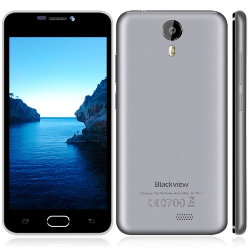 "Blackview BV2000 4G FDD-LTE 3G WCDMA Smartphone Android 5.1 OS Quad Core MTK6735 5.0"" Screen 1.0GHz 1GB RAM 8GB ROM 5MP 8MP Dual Cameras"