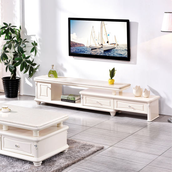 China Living Room Furniture Hot Sell Wooden White L Shaped Marble Pictures Of Tv Cabinet Tv Stand From China On Topchinasupplier Com