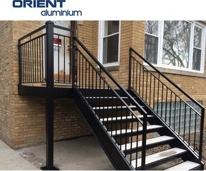 Outdoor Metal Handrail For Steps Outdoor Metal Handrail For Steps | Metal Handrails For Outdoor Steps | Outside | Hand | Backyard | Wood | Contemporary