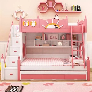 Kids Bunk Beds With Stairs Bunk Bed With Desk Kids Bed With Slide Wholesale Children Furniture Products On Tradees Com