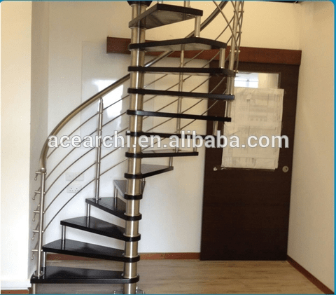 Diy Design Indoor Wrought Iron Wooden Spiral Staircase Prices | Wrought Iron Spiral Staircase | Wood | Gothic | Small | Mezzanine | Internal