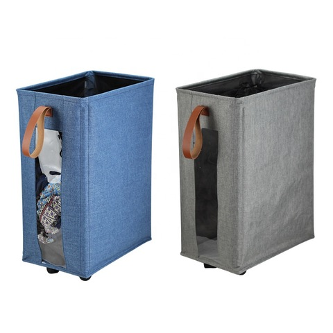 Most Popular Europe Clothes Hamper Corner Narrow Single Foldable Rolling Laundry Basket With Lid Wholesale Laundry Products Products On Tradees Com