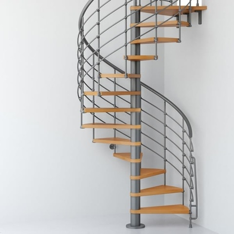 Hot Sale Metal Arc Cast Iron Used Spiral Staircase For Indoor | Iron Spiral Staircase For Sale | Grey Exterior | Wrought Iron | Ornate | Helical Staircase | Architectural Salvage