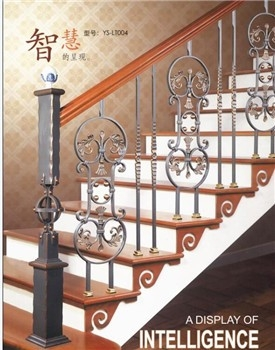 Yishu Metal Factory 2017 New Product Indoor Wrought Iron Stair | Wrought Iron Staircase Spindles | Basement Stair | Rot Iron | Outdoor | Wooden French Country Newel Post | Foyer