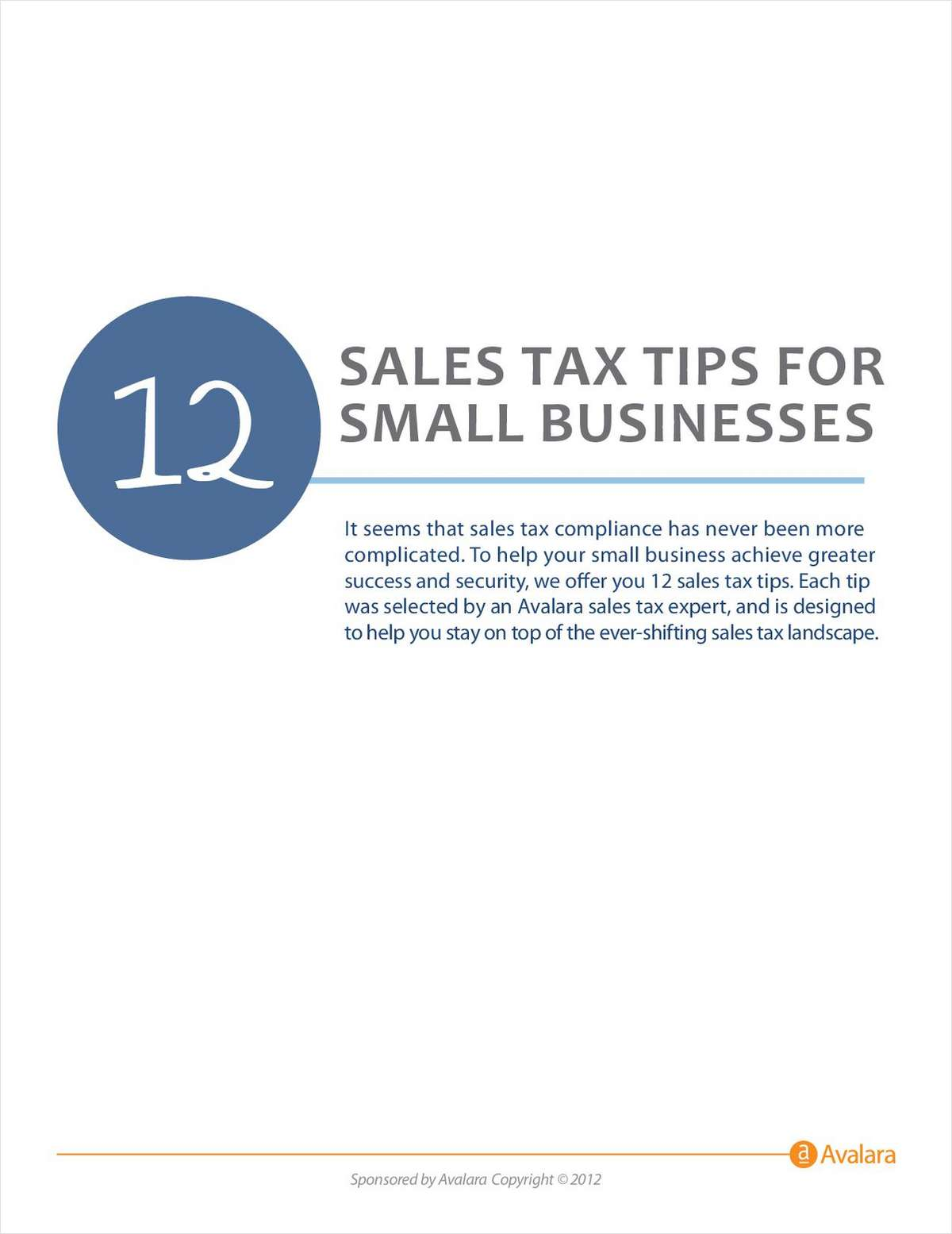 12 Sales Tax Tips For Small Businesses Free White Paper