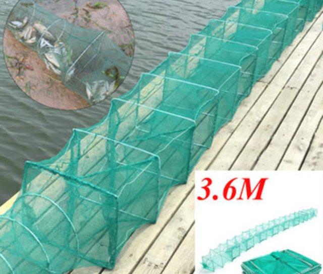 M Long Tube Nylon Mesh Crab Crayfish Lobster Catche