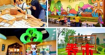 彰化觀光工廠》卷木森活館。全台唯一木皮板觀光工廠,下雨都適合的室內親子景點放假好去處!親子遊戲室、手作DIY、卷木咖啡