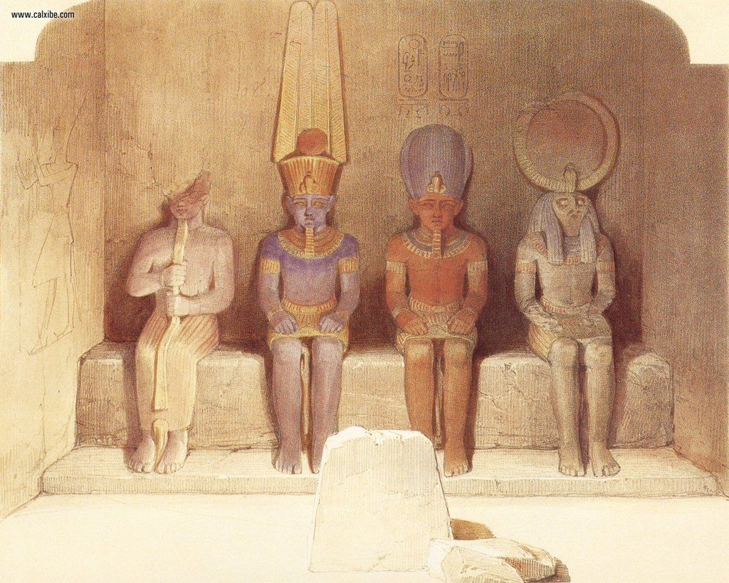 David_Roberts_pg49_The_Naos_Of_The_Great_Temple_Of_Abu_Simbel_