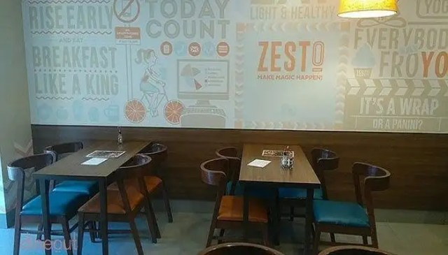 Quirky and well-laid interiors of Zesto Cafe in Lower Parel West in Mumbai