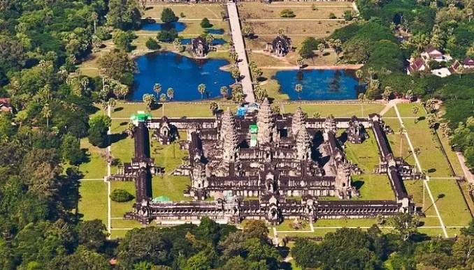 Aerial View Of Cambodia