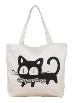 H14739W 4 d9be - Printed Canvas Tote Bags