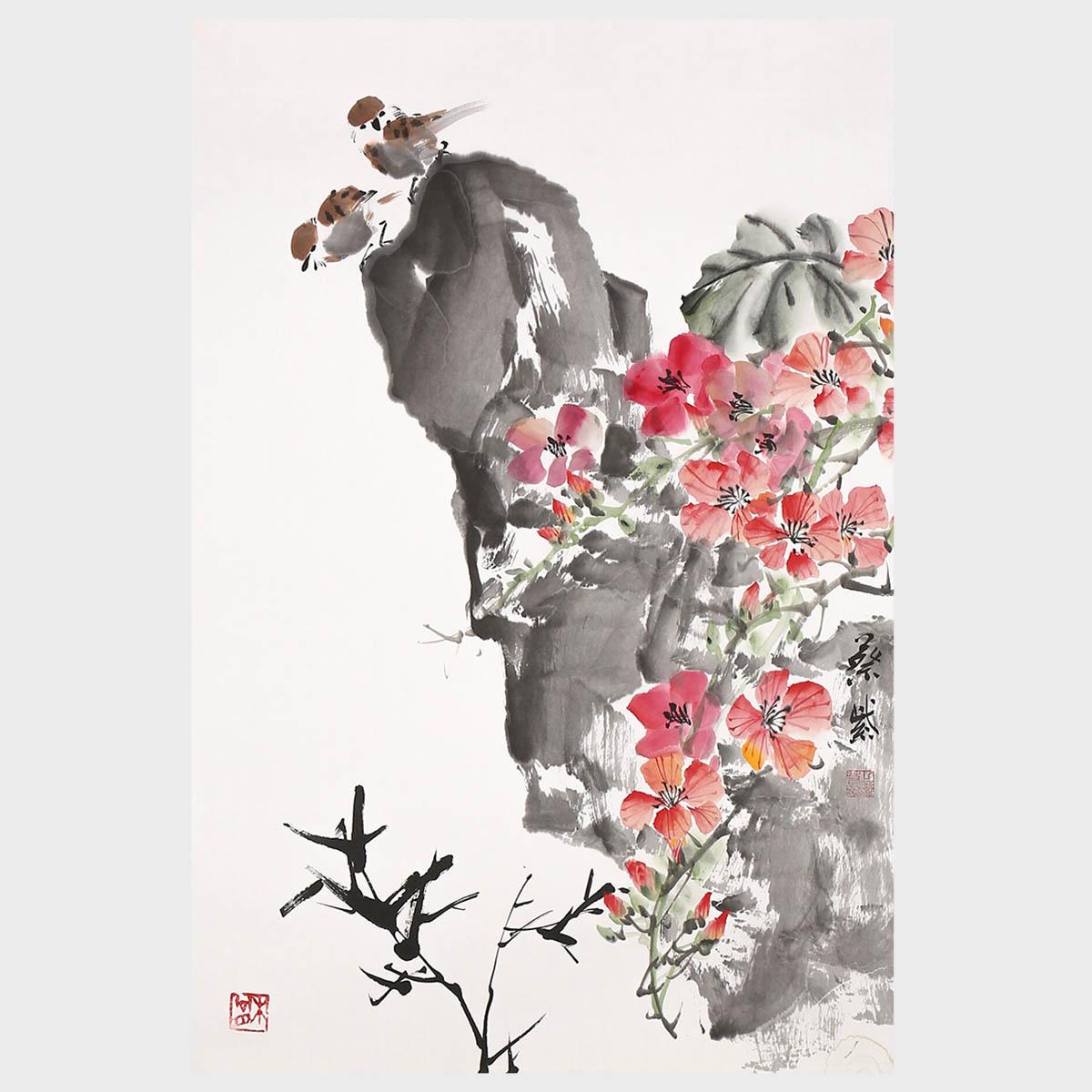 Sommerfeld Blumen Malerei Kostenloses Stock Bild Public Domain