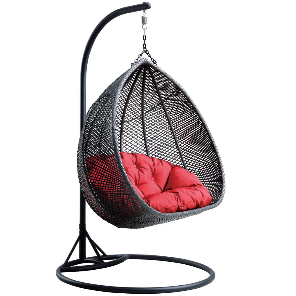 fauteuil suspendu de jardin en resine tressee pour 2 personnes mars