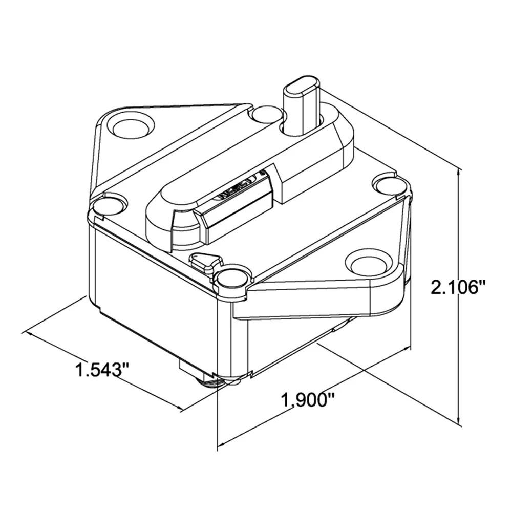 Waterproof circuit breaker overload protection with manual reset switch for car bus truck caravan trailer sales online 1 tomtop