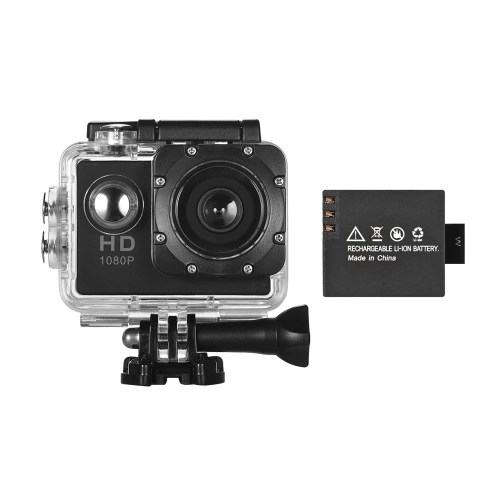 Mini Sports DV VGA HD Action Camera Web Cam with 1 Detachable Battery LCD Screen Support Motion Detection Cyclic Record 30m Waterproof