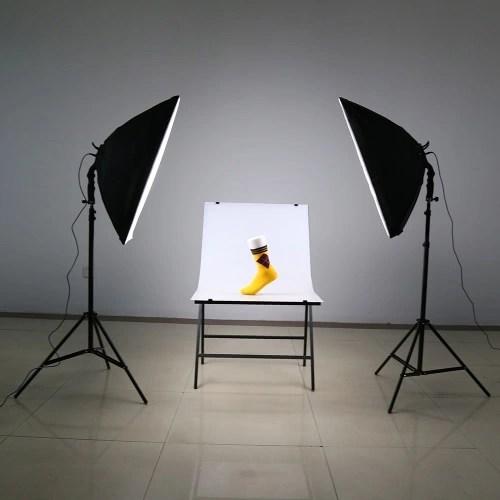 andoer led photography studio lighting light kit with 2 30w led lamp 2 softbox 2 light stand 1 carrying bag