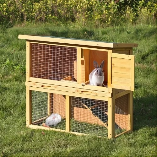 IKayaa Multi Use Chicken Coop Waterproof Wood Rabbit Hutch