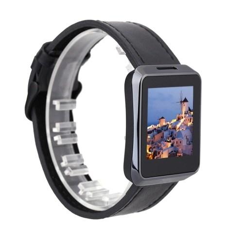 Z023 BT 4.0 Smart Watch Reloj Inteligente de Pantalla de 1.54″ .Correa de Cuero de Lujo. MTK2502-ARM7 OTA para Smartphone de Android iOS (Negro) 2019