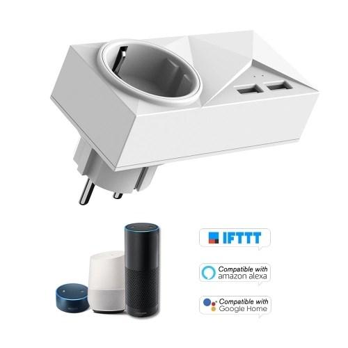 Wifi Smart Plug Mini Dual Outlets 2 USB Ports Smart Socket