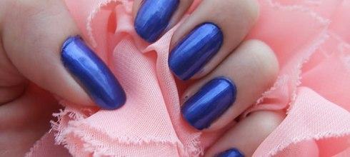 OPI指甲油試色  (NL B24)(釉光藍)