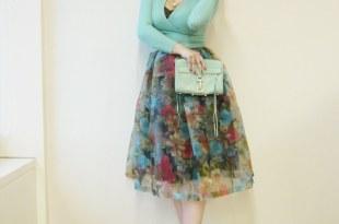 [Outfit] 30天重複穿搭挑戰賽~復古女伶網紗花裙
