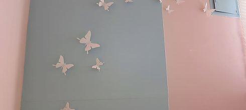 網購裝修房間~蝴蝶立體壁貼
