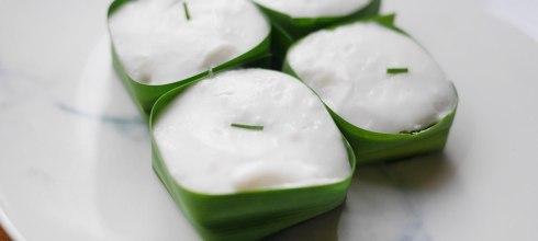 [食譜] 泰式香蘭葉椰汁糕搭配玉米做法