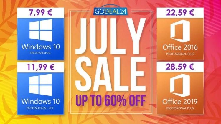 Con le offerte di luglio di GoDeal24 Windows 10 è vostro a partire da 6 euro