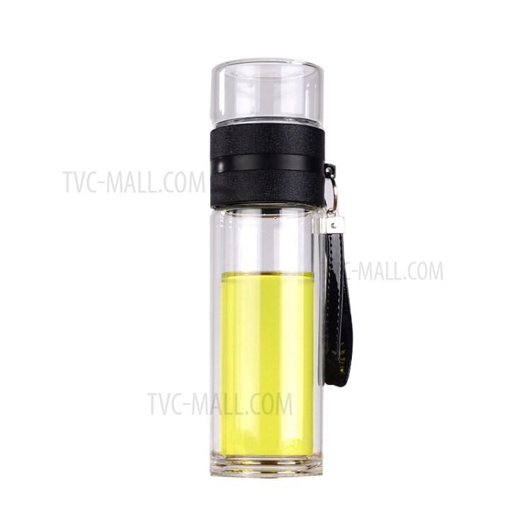 achete 300 ml a double paroi en verre verre a the infuseur filtre bouteille d eau avec filtre infuseur voyage noir
