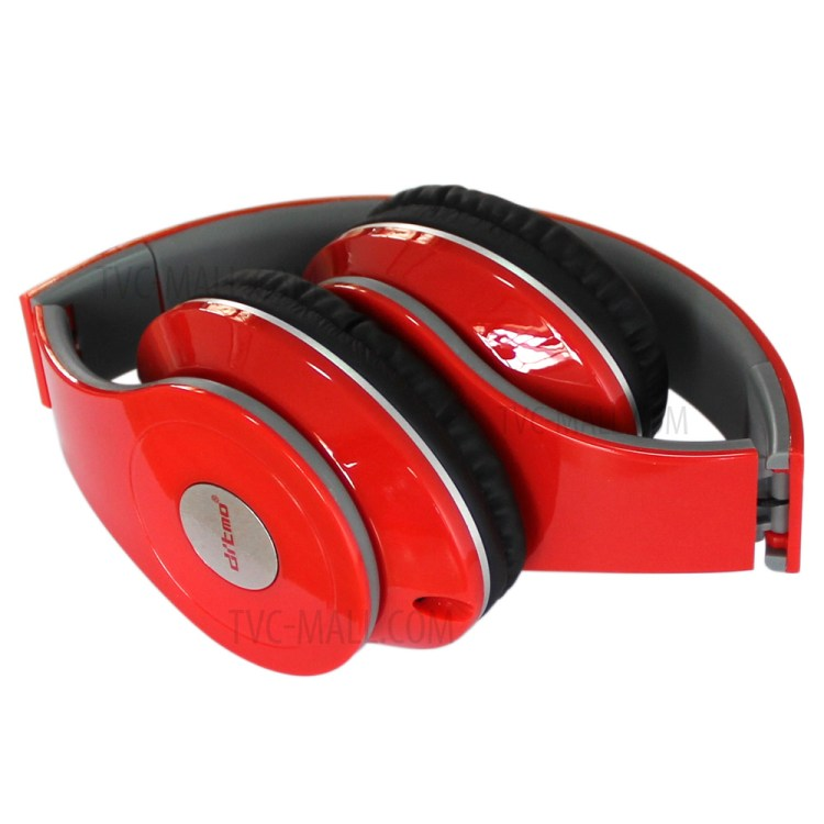 DITMO Foldable Stereo Wired Headphone with 3.5mm 1.2m Cable (DM-2600) - Red-5