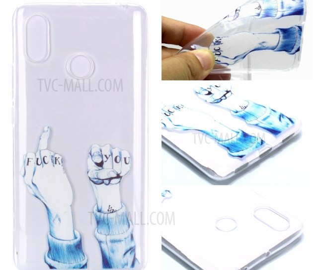 For Xiaomi Mi Max  Pattern Printing Tpu Case Soft Cell Phone Cover Fuck You