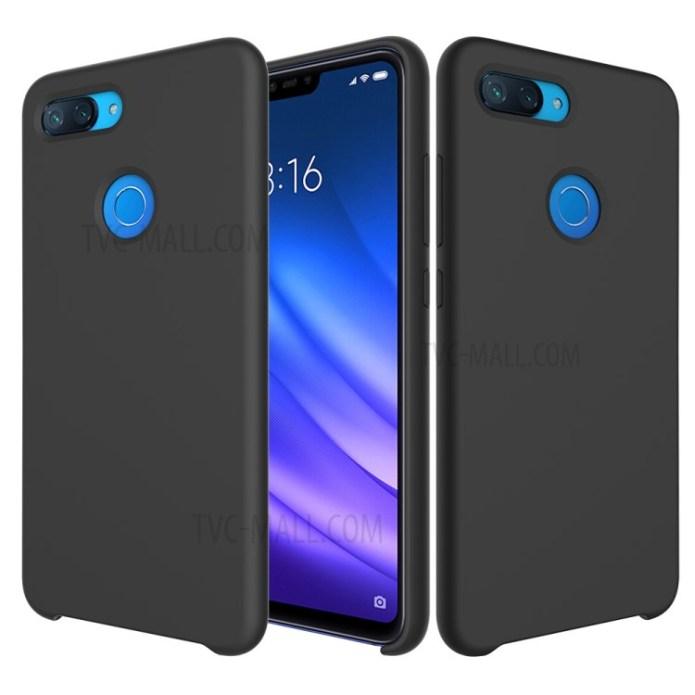 Wholesale Liquid Silicone Mobile Accessory Case For Xiaomi Mi 8 Lite Xiaomi Mi 8 Youth Mi 8x Black From China Tvc Mall Com