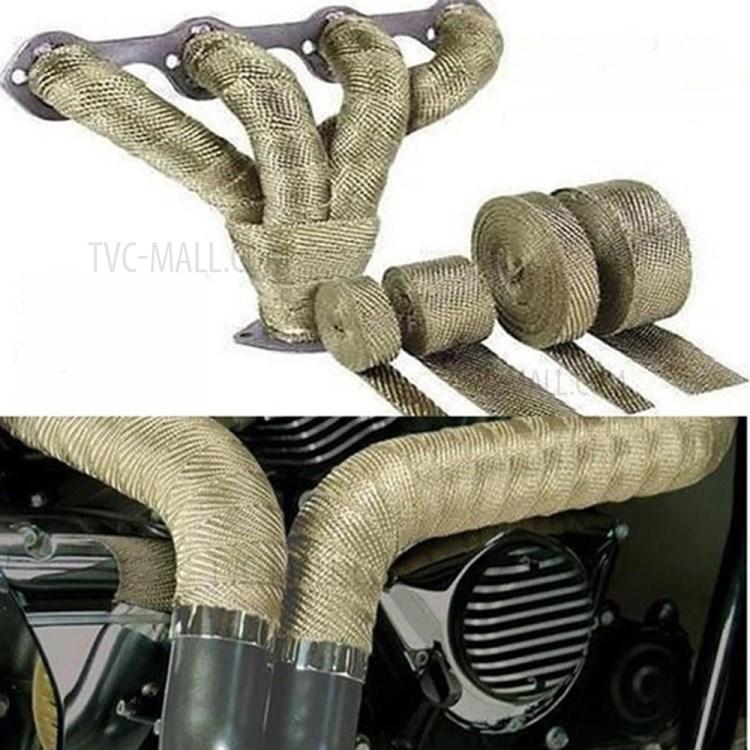 exhaust heat wrap roll fiberglass heat insulated wrap tape 5m green