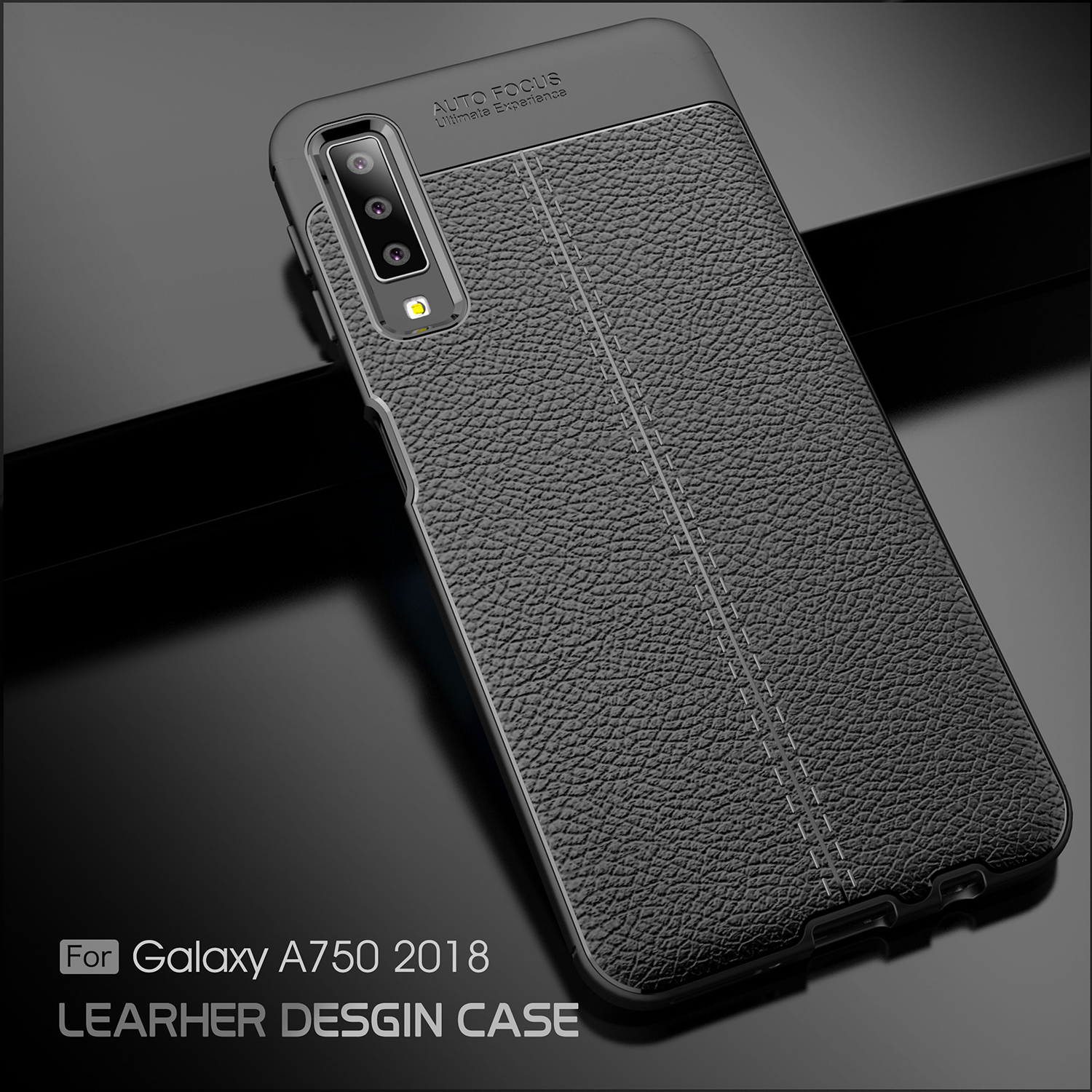 Litchi Grain Soft Tpu Back Cover Protector For Samsung