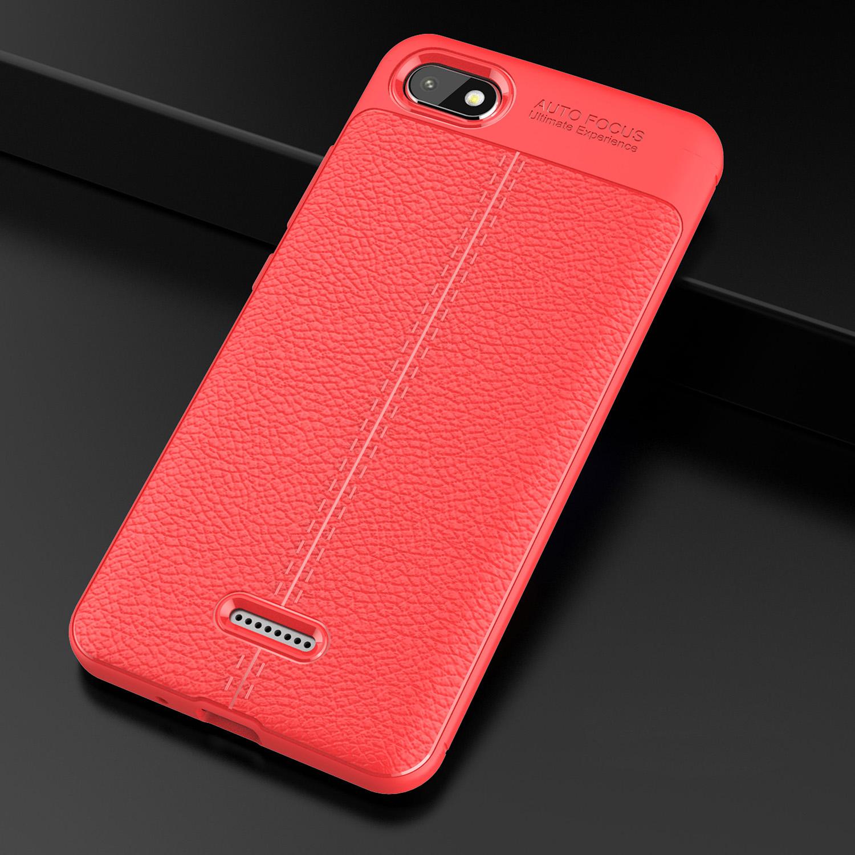 Litchi Texture Tpu Cellphone Case For Xiaomi Redmi 6a